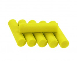 Foam Popper Cylinders, Yellow, 10 mm