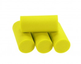 Foam Popper Cylinders, Yellow, 18 mm