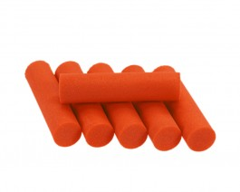 Foam Popper Cylinders, Orange, 10 mm