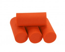 Foam Popper Cylinders, Orange, 18 mm