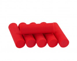 Foam Popper Cylinders, Red, 12 mm