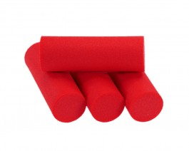 Foam Popper Cylinders, Red, 14 mm