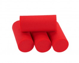 Foam Popper Cylinders, Red, 18 mm