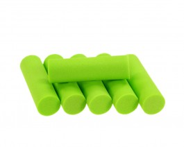 Foam Popper Cylinders, Chartreuse, 12 mm