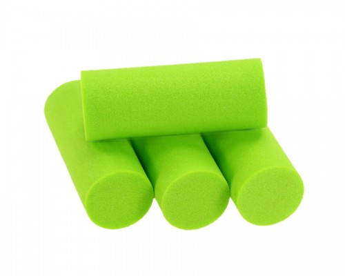 Foam Popper Cylinders, Chartreuse, 16 mm