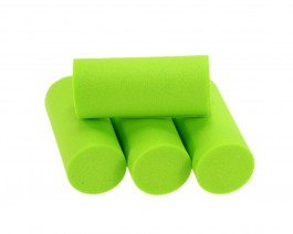 Foam Popper Cylinders, Chartreuse, 18 mm