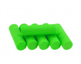 Foam Popper Cylinders, Green, 12 mm