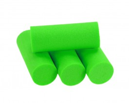 Foam Popper Cylinders, Green, 16 mm