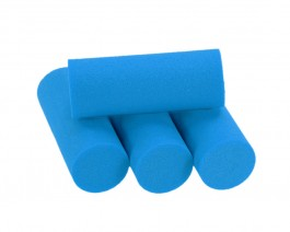 Foam Popper Cylinders, Blue, 16 mm
