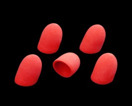 Foam Popper Short, Red, 12 mm