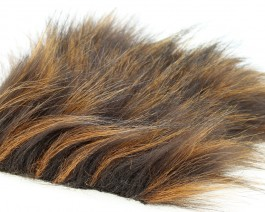 Craft Fur Medium, Brown Raccoon, 100x140 mm