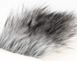 Craft Fur Medium, Silver Gray Fur, 100x140 mm