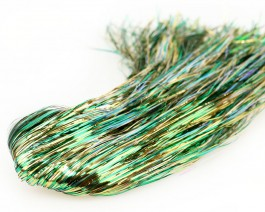 Tinsel Blend Hair, Golden Green