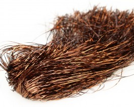 Tinsel Blend Hair, Copper Brown