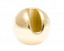 Tungsten Beads, K+ Slotted, Light Gold, 3.5 mm