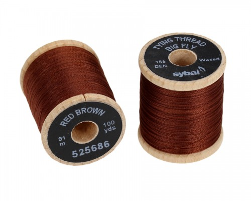 Tying Thread Big Fly, Red Brown