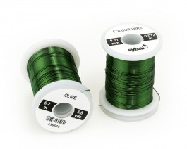 Colour Wire, 0.31 mm, Olive