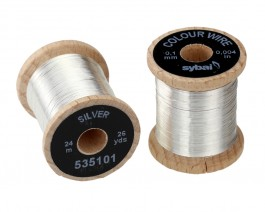 Colour Wire, 0.1 mm, Silver