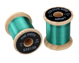 Colour Wire, 0.1 mm, Pine Green