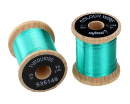 Colour Wire, 0.1 mm, Turquiose