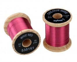 Colour Wire, 0.1 mm, Wine Red