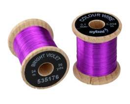 Colour Wire, 0.1 mm, Bright Violet