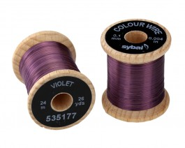 Colour Wire, 0.1 mm, Violet