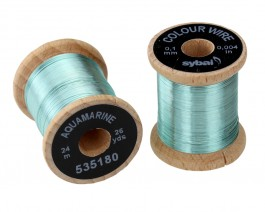 Colour Wire, 0.1 mm, Aquamarine