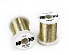 Colour Wire, 0.1 mm, Gold
