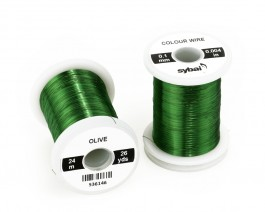 Colour Wire, 0.1 mm, Olive