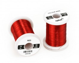 Colour Wire, 0.1 mm, Red