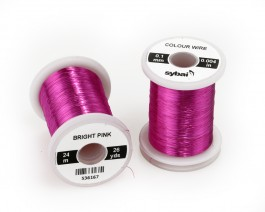 Colour Wire, 0.1 mm, Bright Pink