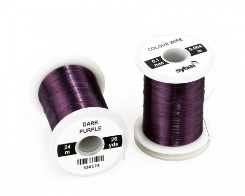 Colour Wire, 0.1 mm, Dark Purple