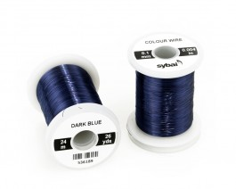Colour Wire, 0.1 mm, Dark Blue