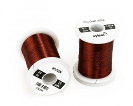 Colour Wire, 0.1 mm, Brown