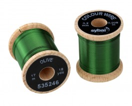 Colour Wire, 0.2 mm, Olive