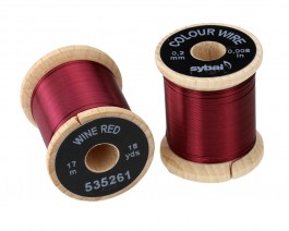 Colour Wire, 0.2 mm, Wine Red