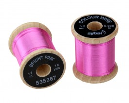 Colour Wire, 0.2 mm, Bright Pink