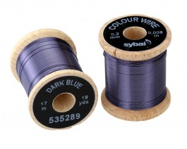 Colour Wire, 0.2 mm, Dark Blue