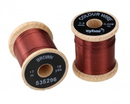 Colour Wire, 0.2 mm, Brown