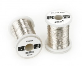 Colour Wire, 0.2 mm, Silver
