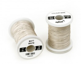 Colour Wire, 0.2 mm, Matt White