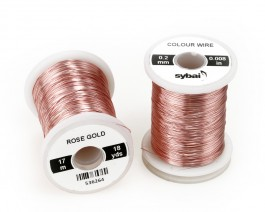 Colour Wire, 0.2 mm, Rose Gold