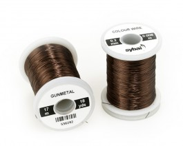 Colour Wire, 0.2 mm, Gunmetal