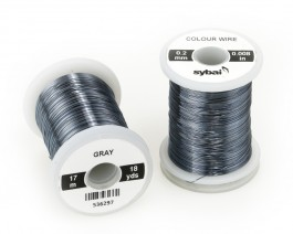Colour Wire, 0.2 mm, Gray