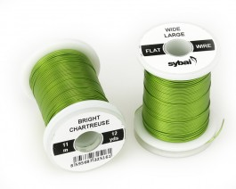 Flat Colour Wire, Large, Wide, Bright Chartreuse