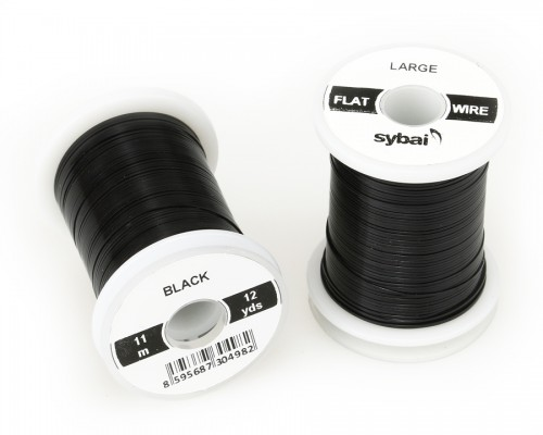 Flat Colour Wire, Large, Black