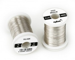 Flat Colour Wire, Medium, Wide, Silver