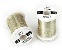 Flat Colour Wire, Medium, Wide, Light Gold