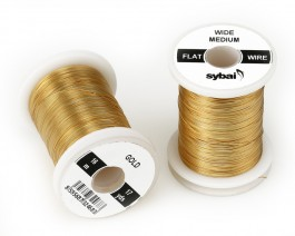 Flat Colour Wire, Medium, Wide, Gold